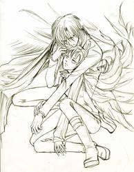 Ororon and Chiaki by sheravira