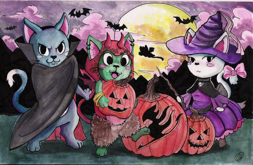 Happy Halloween!!! Fairy Tail edition by Shirokaze2012