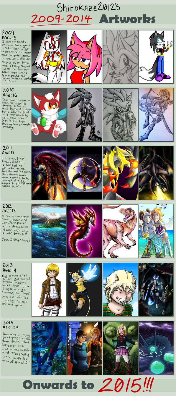 2009-2014 Art Improvement by Shirokaze2012