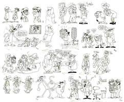 Sketch Dump 4 by Granitoons