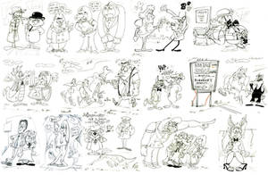 Sketch Dump 12 by Granitoons