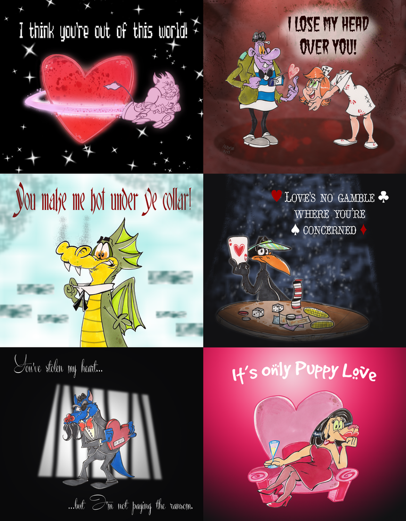V-day card pack by Granitoons