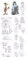 Sketch dump (mid Aug) by Granitoons