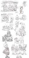 Sketch Dump Sep' 14 by Granitoons