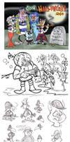 Sketch Dump Nov '14 by Granitoons