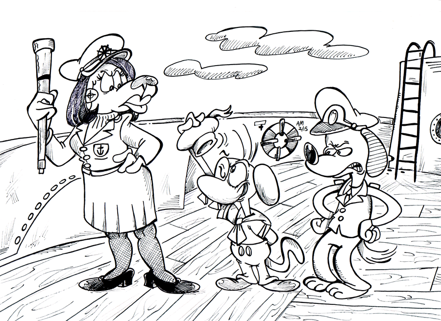 Sea Dogs and wolf whistles by Granitoons