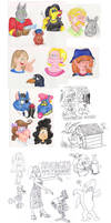 Apr '15 sketches by Granitoons