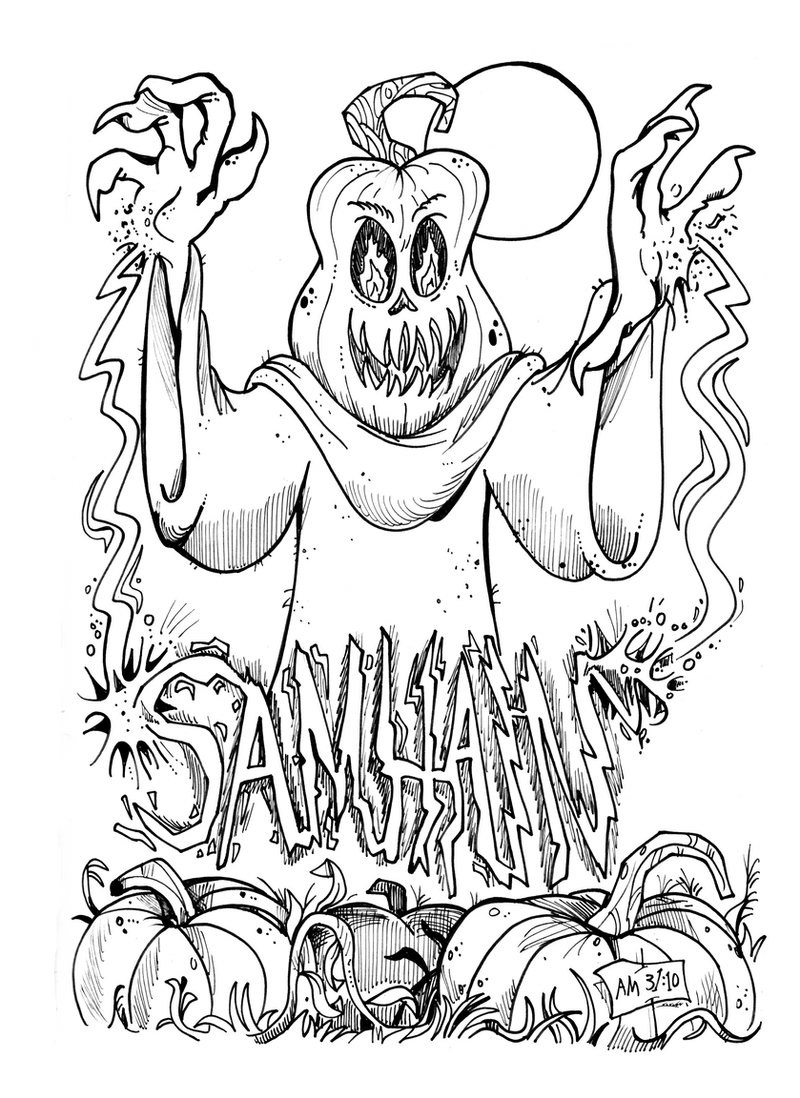 Monster a Day Art Challenge: 31. Samhain by Granitoons
