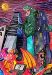 Commission:  GOSHZILLA STRIKES by Granitoons