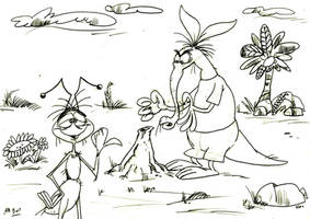 The Ant and the Aardvark by Granitoons