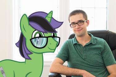 Portrait with my Pony OC V2