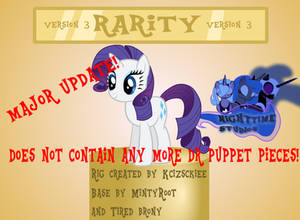 Rarity V3 Puppet Rig By Kcizsckiee (RE-UPLOAD)