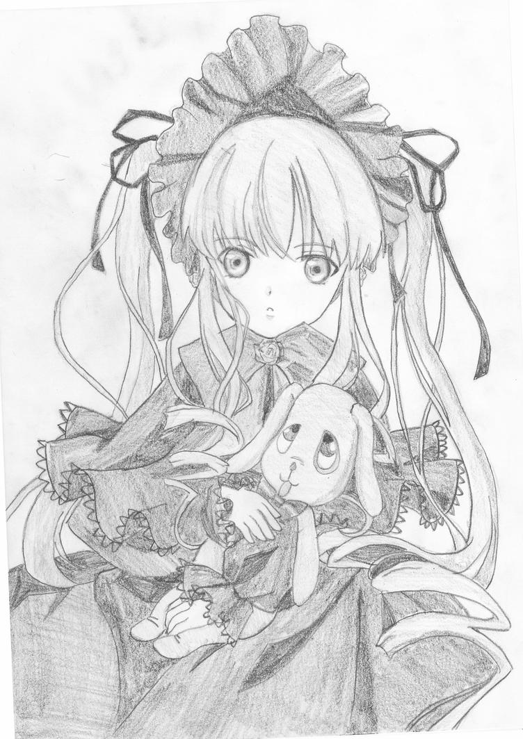 Shinku with  Kun-kun by anime-lover12345