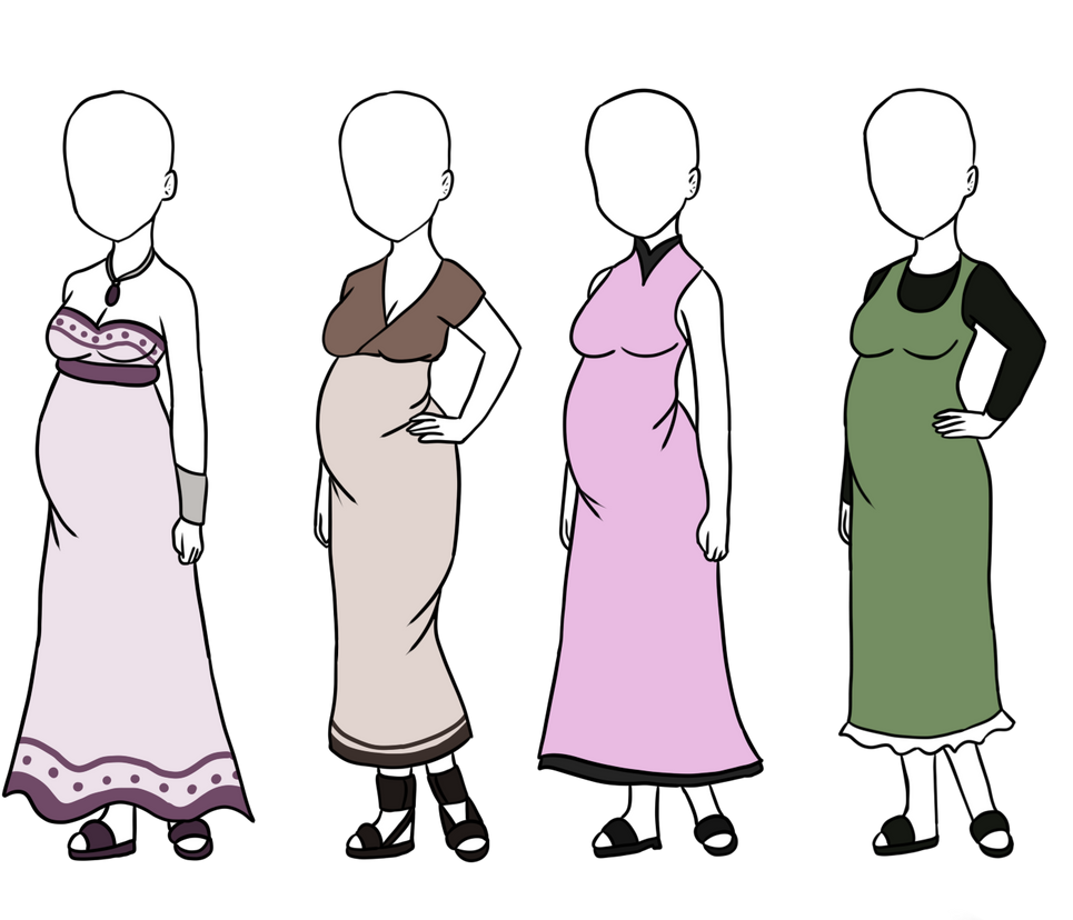Maternity Outfit Adoptables [3/4 OPEN] by BlossomPeanuts