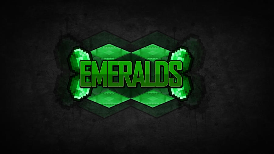 INSANEs Minecraft Wallpapers E2 EMERALDS By InsaneMiner98