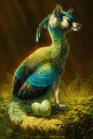 Peafowl Fox by Pixxus
