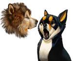 Malamute and Shiba
