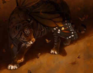 Monarch Butterfly Tiger by Pixxus