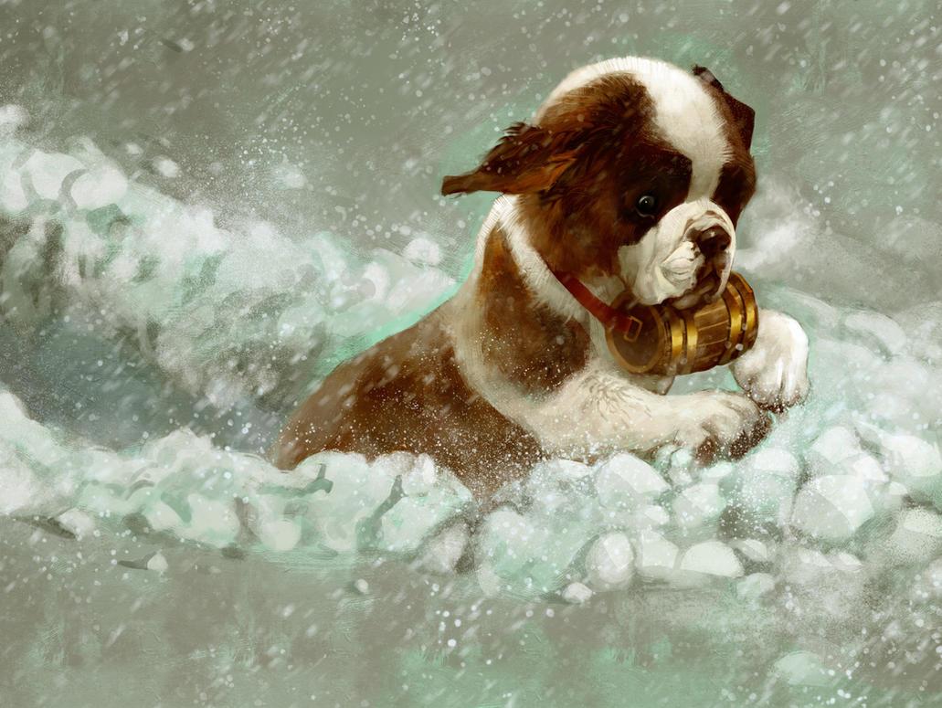 Snow Trudge by Pixxus