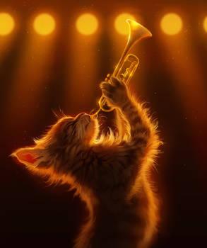 Trumpet Kitten