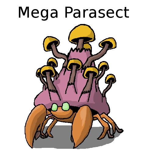 Mega Parasect by GodRobertsCousin