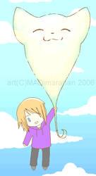 Neko Balloon by MeganeKaosu