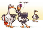Geese for monogamy
