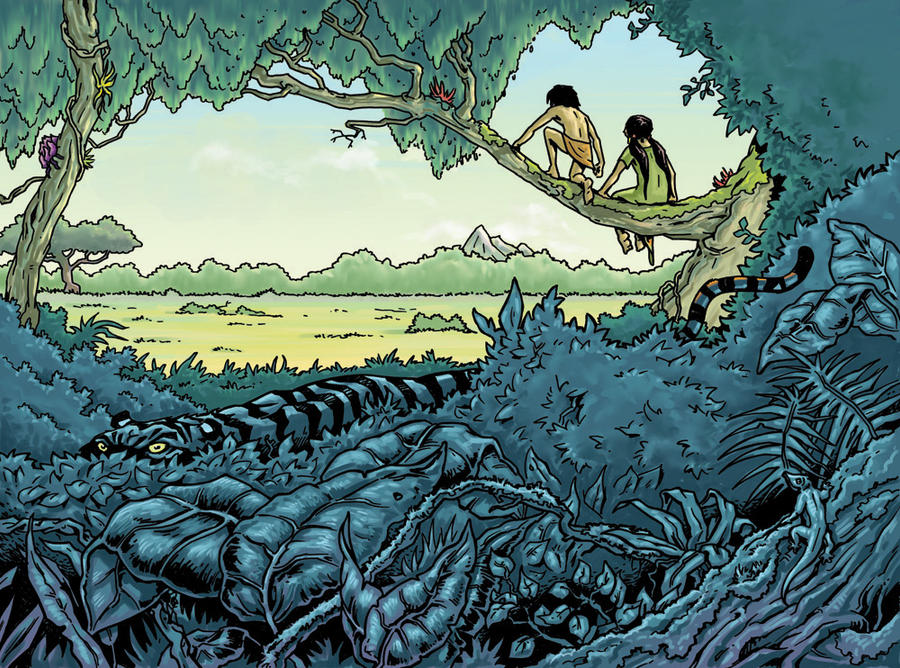 The Jungle Book Cover Art : Junglebook book cover by artoonator on deviantart