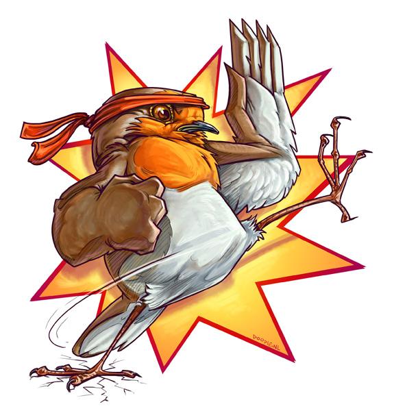Karate Robin by ARTOONATOR