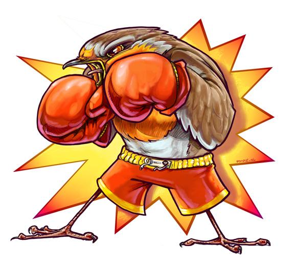 Red boxer by ARTOONATOR