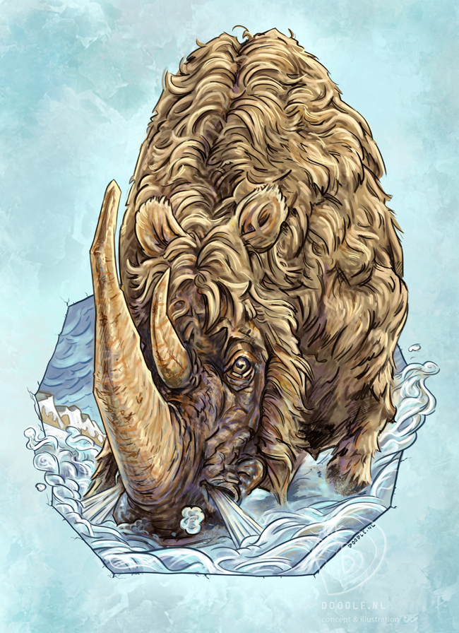 Woolly Rhino by ARTOONATOR