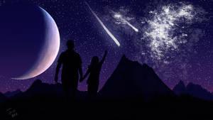 Starfall and nebula by GraphNull
