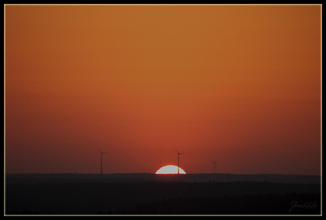 Sunset and Windmills by deaconfrost78