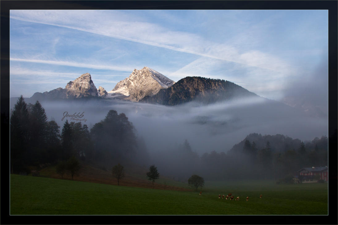 Fog and clouds at Schoenau by deaconfrost78
