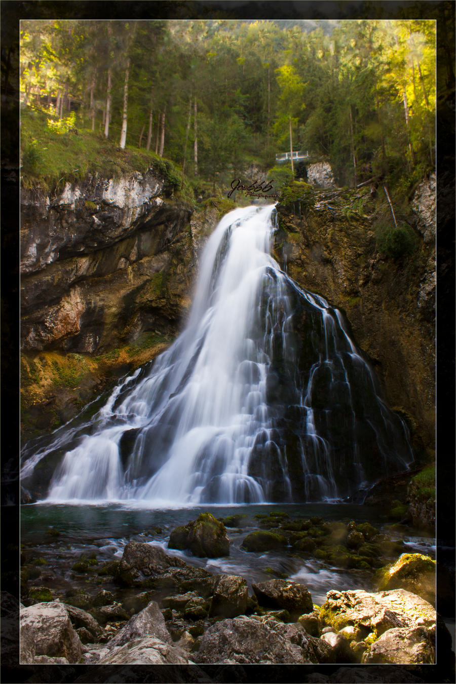 Golling waterfall 1 by deaconfrost78