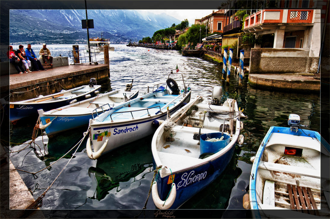 Limone Harbour Boats 1 by deaconfrost78