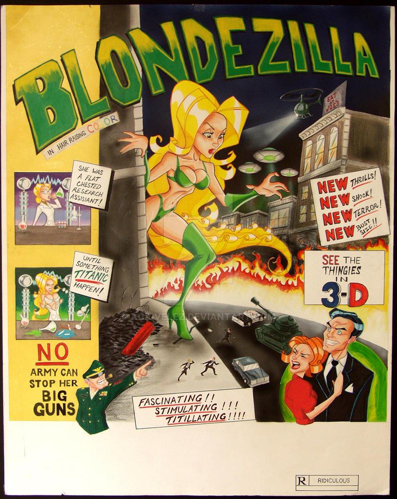 Blondezilla poster by Age-Velez