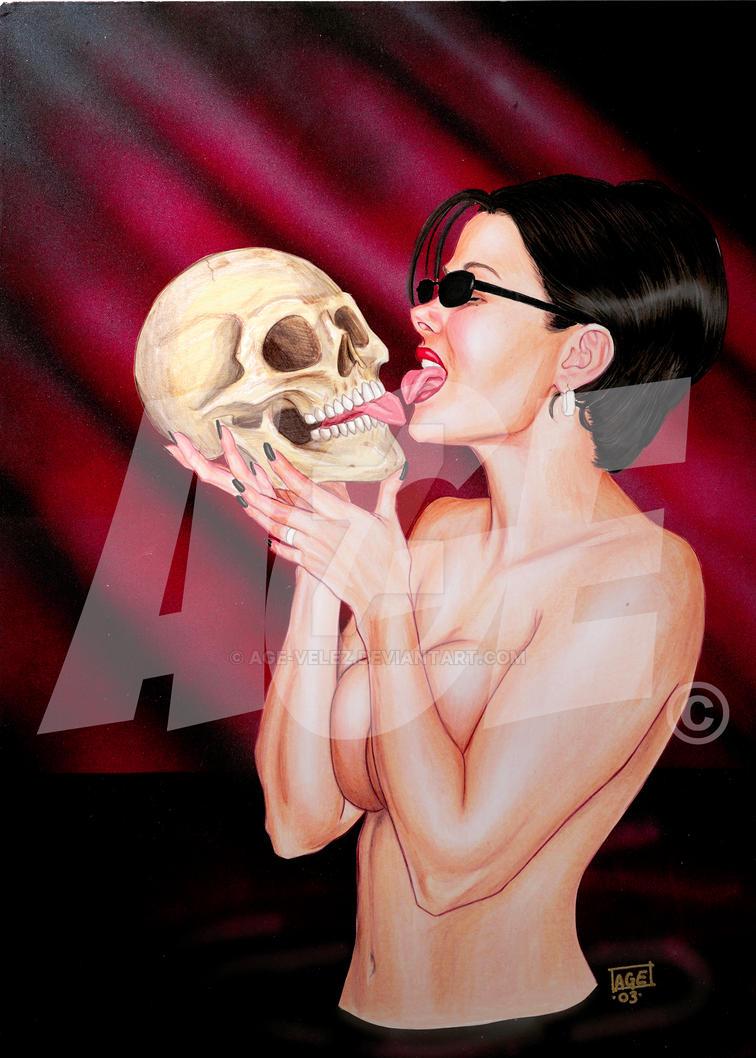Skull Licking by Age-Velez