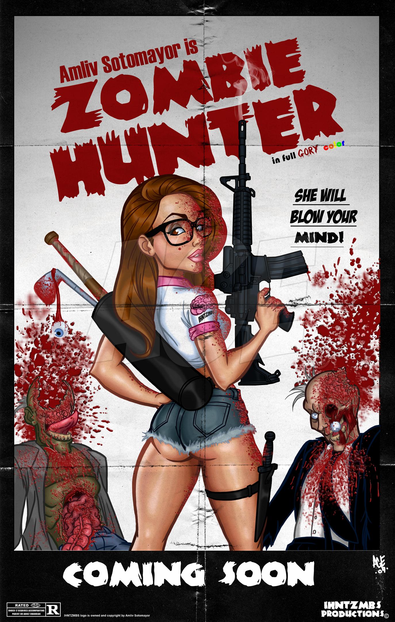 Zombie Hunter poster by Age-Velez