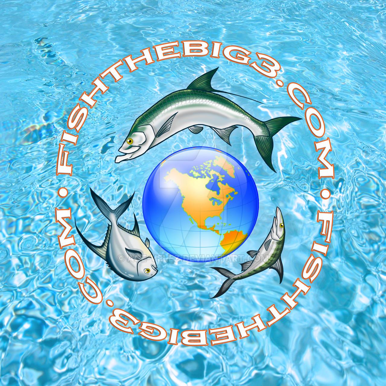 Fish the big 3 logo by Age-Velez