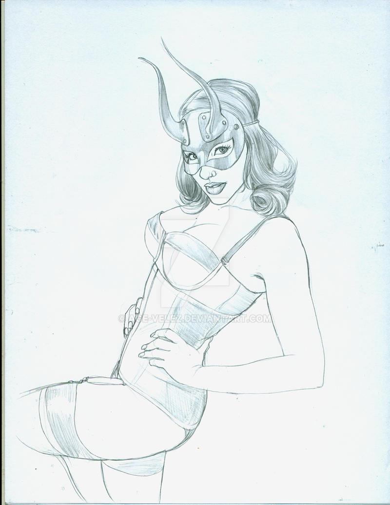 Horny mistress WIP by Age-Velez