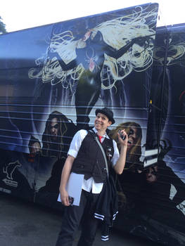In This Moment's Black Widow Tour Bus Art