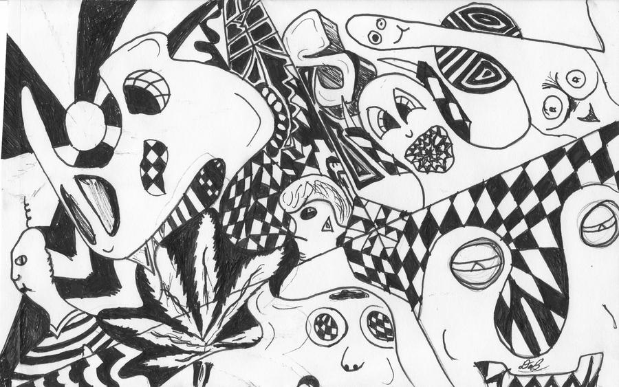 trippy coloring printable pictures