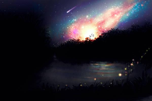 OMG Its full of fireflies!