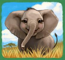 Happy Elephant by CAMartin