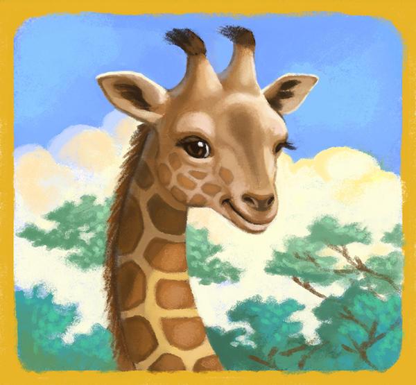 Gentle Giraffe by CAMartin