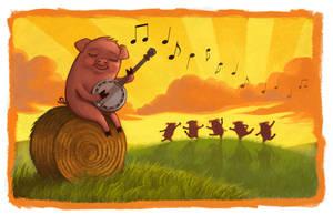 Banjo Pig by CAMartin