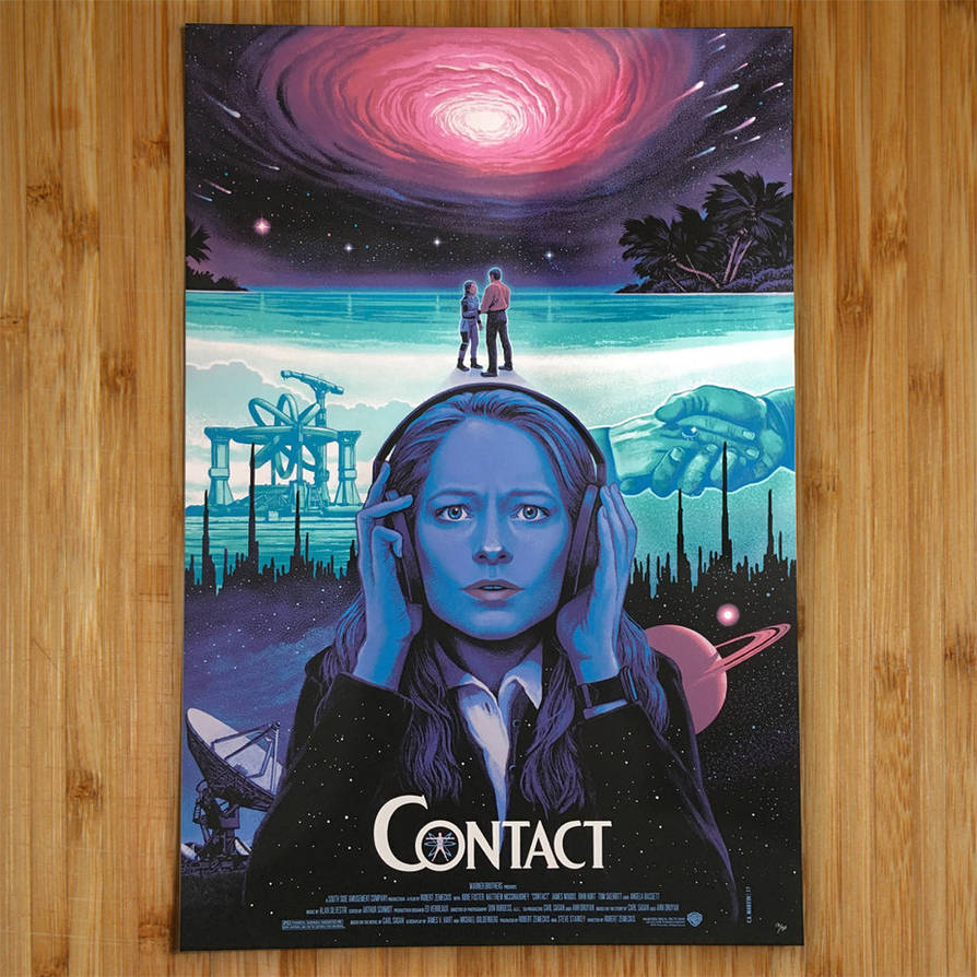 Contact - Screen Print Movie Poster