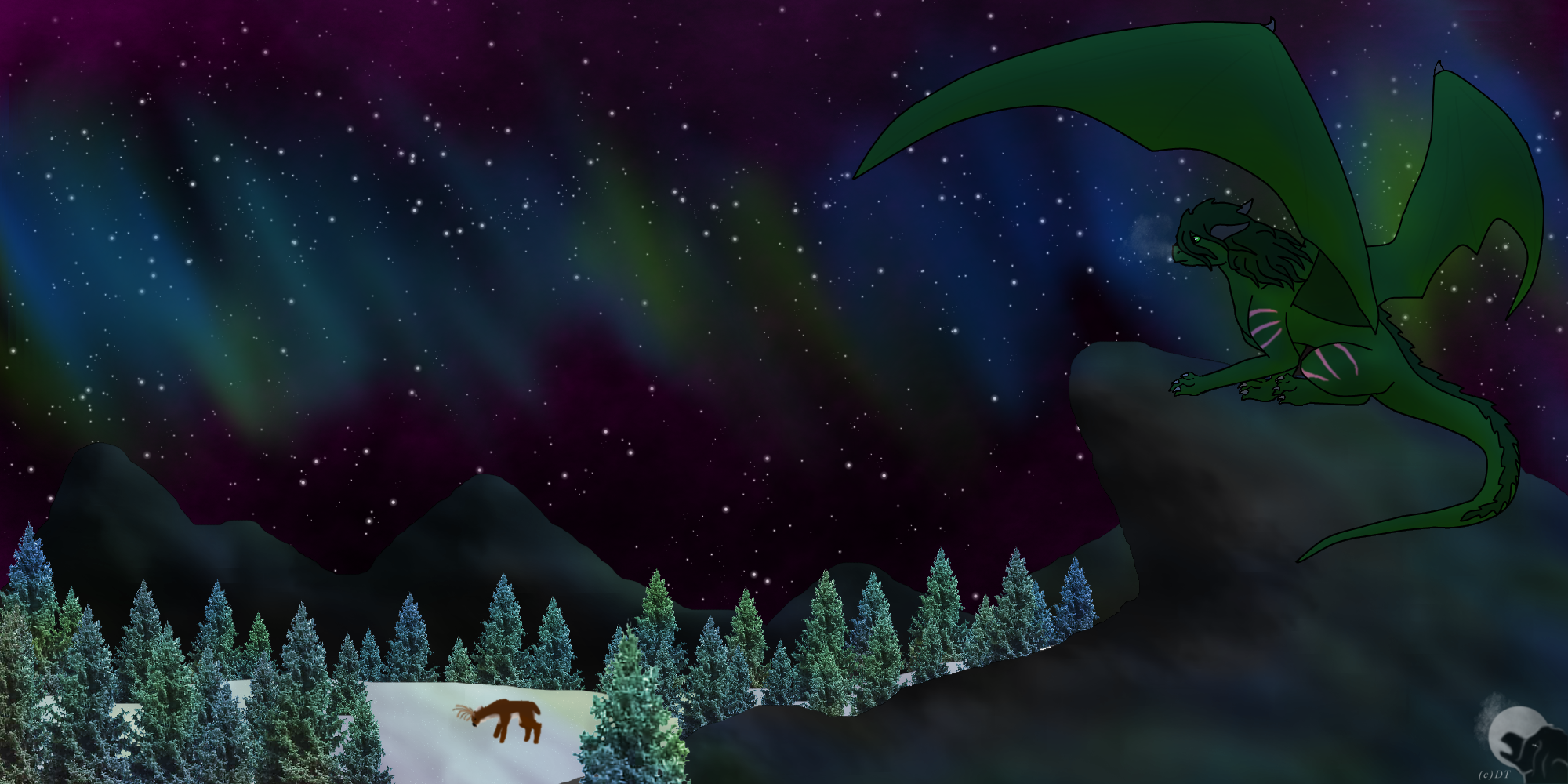 A Winter's Hunt pt 2 by DragonThunderstorm