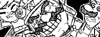 Wario, Luigi and Toon Link by WhiteRose1994